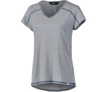 Dayspring V-Shirt Damen, vintage white stripe