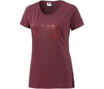 S/S Easy Tee T-Shirt Damen, BAROLO RED NOVELTY