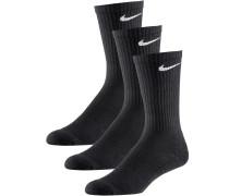 CUSHION CREW Socken Pack, schwarz