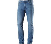 AEDAN Slim Fit Jeans Herren, used light stone blue denim