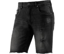 Jeansshorts Herren, schwarz
