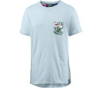 Printshirt Herren, blau