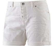 Jeansshorts Damen, white denim
