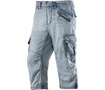 Miles 3/4-Jeans Herren, light blue denim