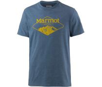 Mountaineer Printshirt Herren, blau