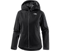 Water Ice Softshelljacke Damen, schwarz
