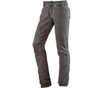 PaulaTZ Skinny Fit Jeans Damen, braun