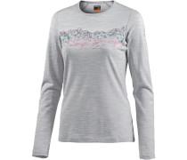 Oasis Langarmshirt Damen, blizzard hthr