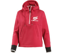 NSW 1/2 ZIP ARCHIVE Hoodie Damen, TOUGH RED/SAIL