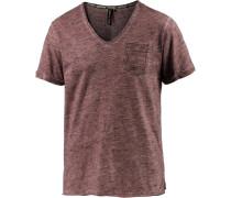 V-Shirt Herren, rot melange