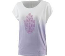 Parvati T-Shirt Damen, flieder/weiß