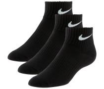 LIGHTWEIGHT QUARTER Socken Pack, schwarz