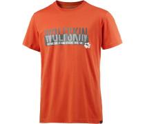 Slogan Printshirt Herren, orange