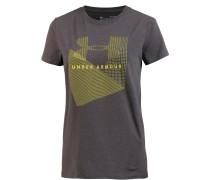 Sportstyle Mesh Logo T-Shirt Damen, charcoal medium heather-black