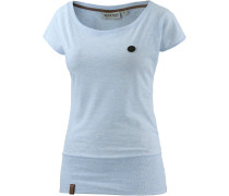 Wolle IX T-Shirt Damen, blau
