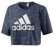 Box Crop T-Shirt Damen, grau