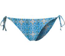 Wallflower Bikini Hose Damen, hellblau/weiß/gelb