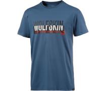 Slogan Printshirt Herren, blau