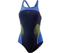 Fit Splice Schwimmanzug Damen, navy/beautiful blue/lime punch