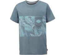 Printshirt Jungen, denimblue