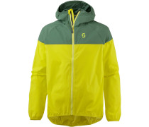 Trail 40 Windbreaker Herren, dark ivy green/sulphur yellow