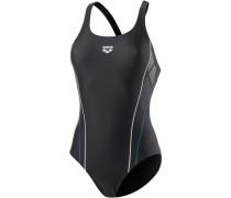 Skid One Schwimmanzug Damen, schwarz