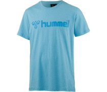Classic Bee SS T-Shirt Herren, blau