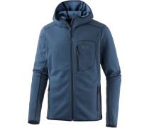 Drynetic Hooded Fleecejacke Herren, blau