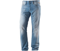 Waitom Straight Fit Jeans Herren, blau