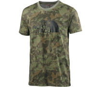 Easy T-Shirt Herren, english green camo print