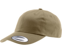 Low Profile Cotton Twill Cap, beige