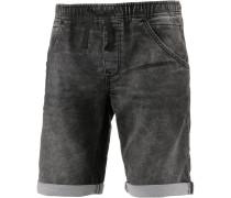 Jeansshorts Herren, used dark stone grey denim