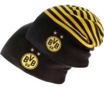 Borussia Dortmund Beanie, Black-Cyber Yellow