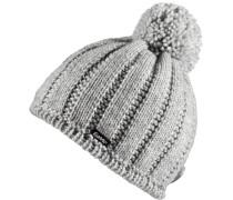 Mütze Levke Pompon Bommelmütze, grau