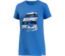 Forest Printshirt Damen, blau