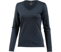 Oasis Langarmshirt Damen, stripe nori hthr/ wild rose