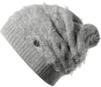 Eskimo Hat Bommelmütze Damen, grau