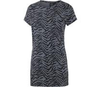 Perfect Twist Longshirt Damen, schwarz/hellblau/zebra