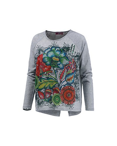 desigual damen desigual strickpullover damen grau 50 reduziert. Black Bedroom Furniture Sets. Home Design Ideas
