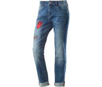 Skinny Fit Jeans Damen, comic blue wash