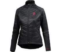 Trail AS Fahrradjacke Damen, black/ruby red
