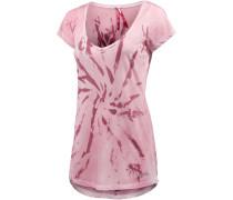 T-Shirt Damen, rosa/weiß
