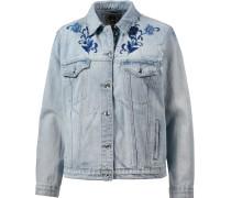 Jeansjacke Damen, light-blue-denim