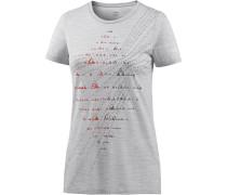 Tech Lite Printshirt Damen, blizzard hthr