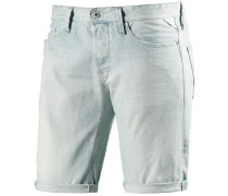 Waitom Short Jeansshorts Herren, light blue denim