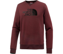 Drew Peak Crew Sweatshirt Herren, Cardinal Red Dark Heather