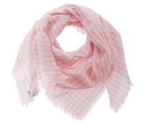 Schal Damen, rosa/weiß