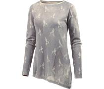 Strickpullover Damen, grau washed