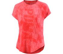 T-Shirt Damen, koralle/melange