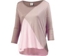 Langarmshirt Damen, grau/rosa/taupe